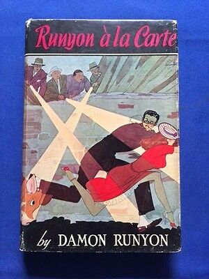 Runyon Ala Carte   First Edition By Damon Runyon