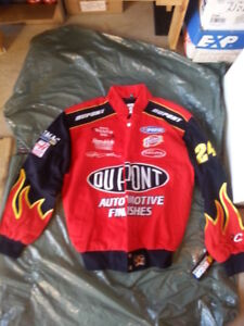 BRAND NEW CLOTHING NASCAR JACKETS COATS IN TWILL & LEATHER