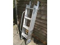 Youngman Deluxe 3 Section 12 Tread Aluminium Sliding Extension Loft Ladder