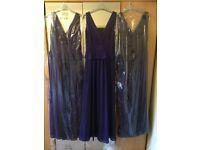3 debút purple peplum unworn bridesmaid dresses