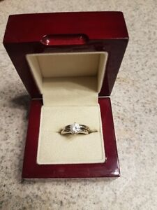 1.25 KT 14K White Gold Lab created Diamond Solitaire Size 5