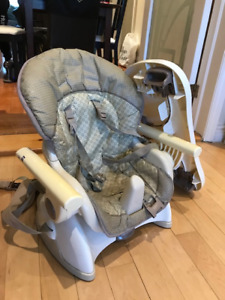 Portable seat-strapped high chair!