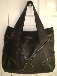 French Designer Leather Tote Bag / Purse -- New