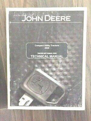 2005 John Deere Compact Utility Tractors 2520 Technical Manual Tm2288