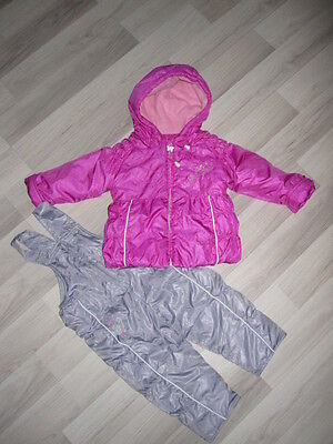 •●✿ Madchen Jacken/Schneeanzug/ Baby Overall Gr: 92 Rosa-Silber ✿●•