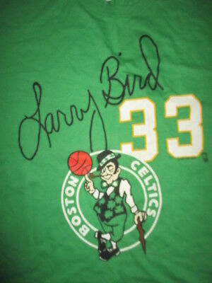 Salem Sportswear LARRY BIRD No. 33 BOSTON CELTICS Signature Series (XL) T-Shirt