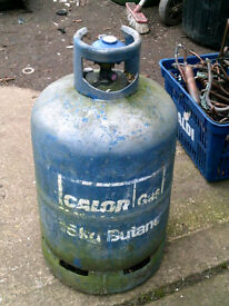 gas bottle, 15kg butane, blue with reg and some gas