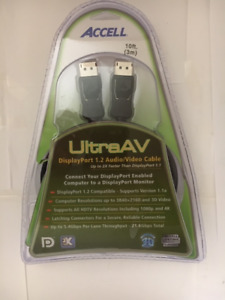Accell Ultra AV Displayport 1.2 Audio Video Cable