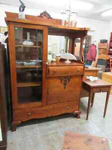 Anitque Solid Maple Side By Side Display Cabinet China Cabinet London Ontario image 1