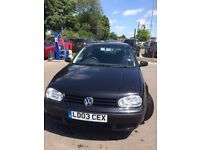 Golf 1.6, 2003, Match spec, 89k miles, Ideal Present for New/Young Driver