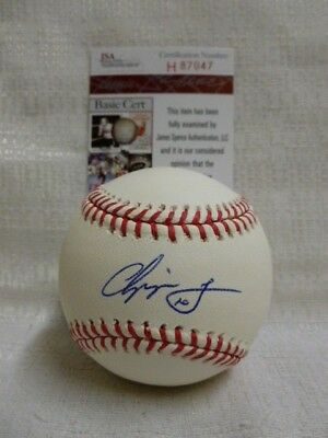 Chipper Jones Signed Atlanta Braves HOF 2018 Major League Baseball JSA H87047