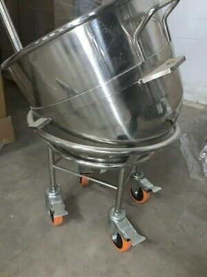 Hobart Mixing Bowl 60 Quart With Dolly On Wheels