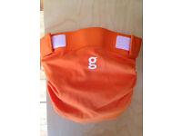 Washable nappies - Gnappies - orange - large - new