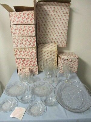 New in boxes, PRINCESS HOUSE FANTASIA Glass, Dinnerware+, 32 pc  mixed lot