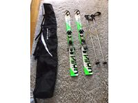 SKIS VOLKL WOMENS MENS YOUTHS TOP QUALITY USED FOR JUST 4 HOURS WITH BINDINGS ABSOLUTE BARGAIN
