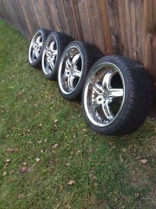 225/40 ZR 18 92W Tires & Chrome rims for sale