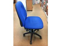 Office chairs x 8 worn but useable, free to a good home on collection