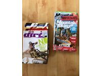 Magazines, downhill biking, approximately 100