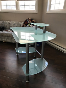 Frosted Glass Top Desk