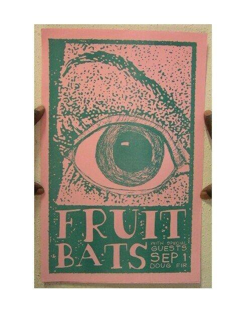 Fruit Bats Poster The Fruitbats Concert Gig The Shins Califone