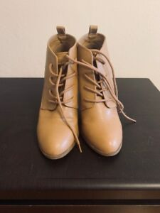 Brown Heeled Boots Size 7