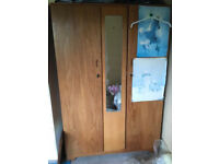 Solid Wood Double Wardrobe Excellent condition