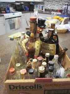 Box of Vintage  Bottles