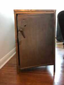 Antique Industrial Metal Cabinet/Side Table