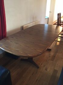G Plan extendable table and 6 chairs