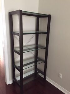 SHELVING UNIT WITH GLASS SHELVES FROM STRUCTUBE