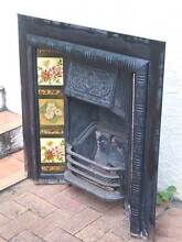 fireplace fore place insert panel wrought cast iron metal Rhodes Canada Bay Area Preview