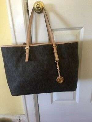 Michael Kors Large Brown Leather Logo Tote