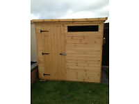 Quality 7' x 5' Security Timber Shed - Brand New