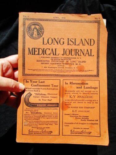1920 LONG ISLAND MEDICAL JOURNAL Vintage Vol 14 No 4 Physicians Doctors New York