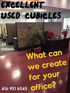 EXCELLENT COND USED CUBICLES: SUPPLIED, DELIVERED & INSTALLED