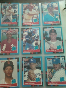 Mint 1988 Donruss and Donruss Rookies baseball card sets
