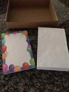 Over 70 Brand New Cardstock Invitations/Announcement Cards