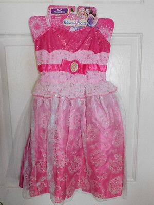 Barbie The Princess & The Popstar Costume Dress Size 4-6x New! - Popstar Costume