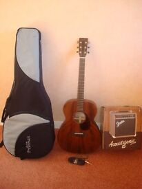 ACCOUSTIC GUITAR ,PICK-UP AND GIG CASE