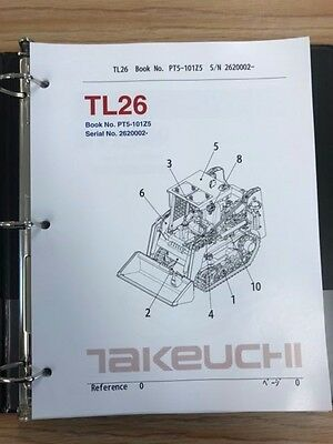 Takeuchi Tl26 Parts Manual Sn 2620002 And Up Free Usps Priority Mail