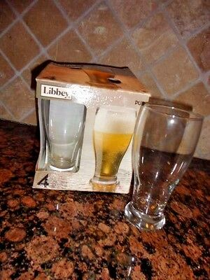 LIBBEY PILSNER 19 OZ BEER GLASSES SET OF 4 -