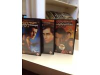 Collectable *JAMES BOND 007* x3 VHS Video Recordings Pierce Brosnan Tim Dalton