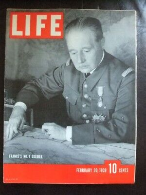 Vintage Life Magazine February 20 1939   Television At Worlds Fair   Wwii News