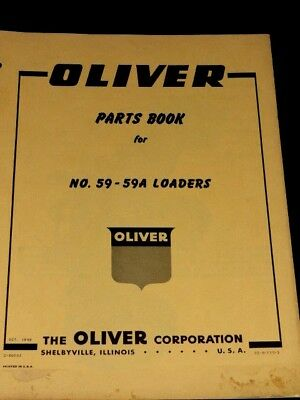 Oliver Parts Book No.59-59a Loaders