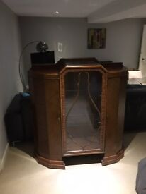 Antique display cabinet, with glass shelves