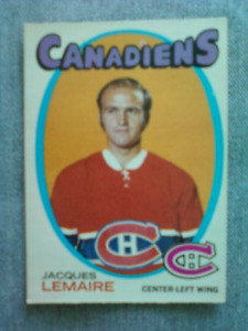 Mint 1971-72 O-Pee-Chee Jacques Lemaire hockey card
