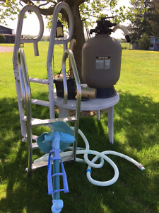 Pool pump, Filter, Ladder and Misc