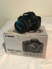 Canon 500D camera + 2 lens and extras