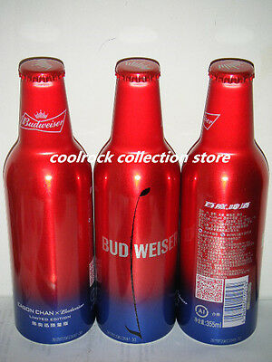 2017 China Budweiser beer Eason Chen aluminium bottle 355ml empty