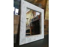 Restored Shabby Chic Solid Wood Mirror